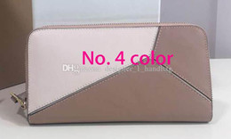 Puzzles cards online shopping - High quality designer wallet new fashion leather puzzle women wallet bag brand designer luxury designer clutch