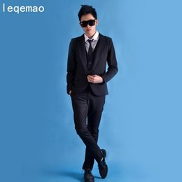 Stage Suits Australia - Male Cool Stylish Suit Jacket Vest Pants Costumes Singer Dancer Dress Performance Stage Show Nightclub Chothing Fashion Slim W
