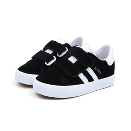 Girls Shoes Unisex UK - kids canvas shoes little big boys trainers shoe fashion girls student shoes black sneaker for children