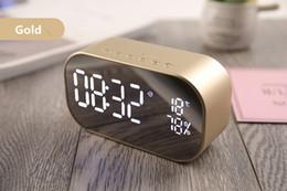 Mini Audio Alarm NZ - 2019 new S2 wireless bluetooth speaker alarm clock speaker audio wireless Bluetooth subwoofer creative bedside speaker