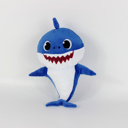 China Top sale 3 Color 30cm(11.8inch) Baby shark With Music Cute Animal Plush 2019 New Baby Shark Dolls Singing English Song For Children Girl B suppliers