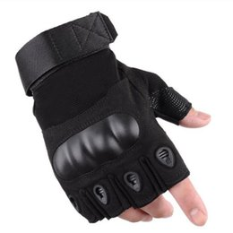 combat gloves NZ - Mens Tactical Half Finger Gloves Army Military Fingerless Combat Outdoor Cycling