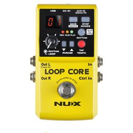 Loops Pedals Australia - NUX Loop Core Guitar Effect Pedal Looper, 6 Hours Recording Time, 99 User Memories, Drum Patterns with TAP Tempo