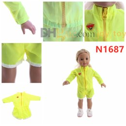 Cloth For Suits Australia - New Long Sleeve Sport Suit with Short Pants for 18 inch American Girl Doll Cloth Accessory