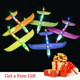 $enCountryForm.capitalKeyWord NZ - Kids Toys Airplane Model Hand Throw Plane 35cm EPP Foam Launch Aircraft Flying Glider Toys For Children Outdoor Game
