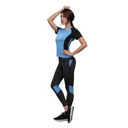 $enCountryForm.capitalKeyWord NZ - Women Yoga Set Gym Fitness Clothes Tennis Shirt+pants Running Tights Jogging Workout Yoga Leggings Sport Suit Gym Clothing Y190508