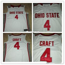d88656fa08b Cheap Ohio State Buckeyes #4 Aaron Craft Retro vest T-shirt Basketball  Jersey red white stitched name and number any size XXS-6XL