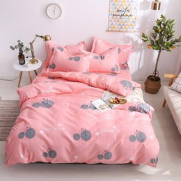Bedding sets for adult girl online shopping - Lemon Bedding Set For Girls Sweet Creative Pink Duvet Cover Bicycle King Queen Twin Full Double Single Soft Bed Cover with Pillowcase