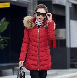 Women slim fit parka online shopping - White Duck Down Coat Women Warm Coat Long Slim Fit Hoodies Jacket Female Casual Big Fur Collar Thick Outwear Parka FR1003