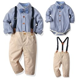 $enCountryForm.capitalKeyWord Australia - baby boys suits weddings baby boy clothes suspender trousers birthday party baby infant boy designer clothes A7383