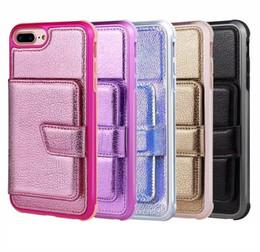 $enCountryForm.capitalKeyWord Australia - Pack Wallet Leather Pocket For Iphone XR XS MAX X 8 7 6 Plus Hybrid Soft TPU Case+ID Card Box Luxury Fashion Flip Cover Holder Shockproof