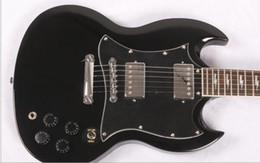 Electric Guitar Angus Young NZ - Angus Young Guitar AC DC Inlaids black rosewood Fretboard electric Guitar, signature guitarra,Free shipping
