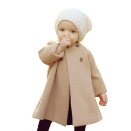 $enCountryForm.capitalKeyWord Australia - Baby Jackets Clothes Long Woolen Windbreaker Coats Kids Princess Cloak Button Outwear for Girls Overcoat Clothing
