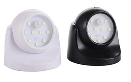 $enCountryForm.capitalKeyWord UK - 9 LED 360 degree rotary motion sensor night light battery powered corridor wall bedside lamp locker garage induction lamp
