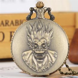 $enCountryForm.capitalKeyWord Australia - Punk Cool Monkey King Design Quartz Bronze Pocket Watch Vintage Necklace Chain Souvenir Pendant Watches Gifts to Men Women Kids
