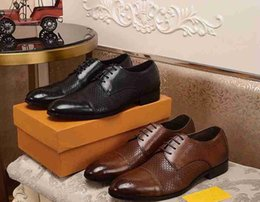 $enCountryForm.capitalKeyWord Australia - Brand Italia men cow leather dress wedding shoe Lace-up formal Suit Business Office Shoe Block Carving Suede Horsebit Loafer Oxfords,38-46