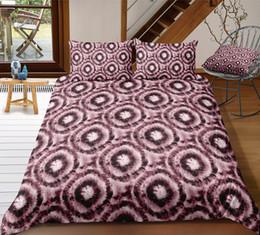 $enCountryForm.capitalKeyWord Australia - Thumbedding Shining Unique Designed Circle Batik Bedding Sets King Size Twin Full Queen King Red Flower 3D Duvet Cover with Pillowcase 3pcs