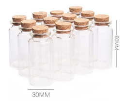 print glass Australia - 25ml Glass Bottles With Cork Small Transparent Clear Mini Empty Glass Vials Jars Gift Pack For Wedding Holiday Bottles