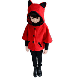 Discount girl poncho kids - Fashion Autumn Winter Girl Jacket Hooded Poncho Kids Clothes Casual Manteau Fille Girls Coat Casaco Infantil Children Ou