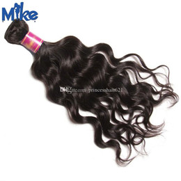 China MikeHAIR Brazilian Natural Wave Hair Weft Unprocessed Original Human Hair Weave 1 Piece 8-30Inch Peruvian Indian Malaysian Hair Extensions suppliers