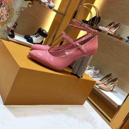 $enCountryForm.capitalKeyWord Australia - american style high heels chunky heels women shoes elegant ladies wedding dress pumps female heeled shoes red nude leather party heels