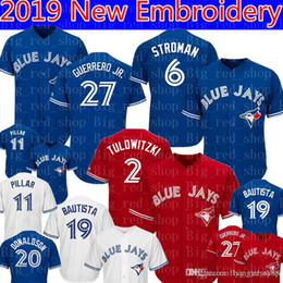 53b86eba2 Toronto 27 Guerrero Jr. Blue 6 Marcus Stroman Jays Jersey 2  19 Jose  Bautista 11 Kevin Pillar 29 Joe Carter 12 Roberto Alomar 20 Jerseys