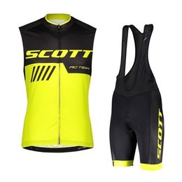 High Quality Cycling Clothing Australia - Team SCOTT 2019 men cycling Jersey bib shorts set high quality UCI World Tour summer breathable MTB Bike clothing outdoor sportswear Y040904