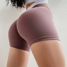 Purple Compression Shorts Australia - Women Elasticity Hip Workout Tight Shorts Fitness Gym Compression Short High Waist Running Training Shorts Breathable Yoga Short