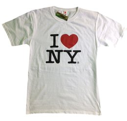 1dd9231293ce I Love NY New York Short Sleeve Screen Print Heart T-Shirt White NY Mens Tee  NYCFunny free shipping Unisex Casual Tshirt