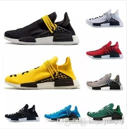 genuine leather online 2019 - 2019 Cheap Wholesale Online Human Race Pharrell Williams Sports Running Shoes,discount Cheap Athletic mens Shoes 36-45 d