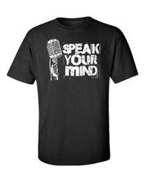 $enCountryForm.capitalKeyWord Australia - Speak Your Mind T Shirt Microphone Inspirational Saying Quote Motivate Men Tee