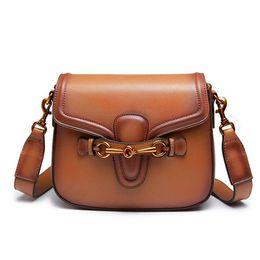 Vente en gros JHD-Sac à bandoulière pour les femmes Mode Retro Crossbody Handbag Sac de selle