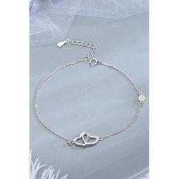 $enCountryForm.capitalKeyWord Australia - La MaxZa Silver 925 Classic Interlock Hollow Heart Bracelets For Women 925 Sterling Silver Bracelet Fashion Jewelry Womens Gold