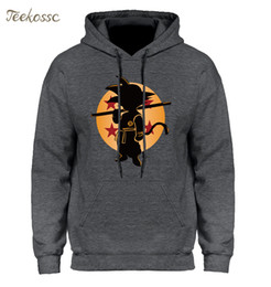 Wholesale Dragon Ball Z Pocket Hoodie Men Japan Anime Hoodies Mens DragonBall Hooded Sweatshirt Winter Pullover Long Sleeve Outerwear S1217