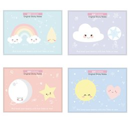 stars clouds NZ - 24 pcs Cartoon weather sticky note Cute Cat Dog Sakura Cloud Star color memos Diary planner sticker Office School supplies
