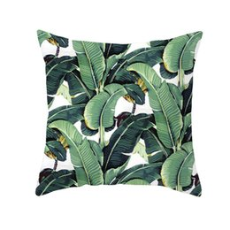 $enCountryForm.capitalKeyWord UK - Nordic Tropical Plant Pattern Pillowcase Office Lumbar Cushion Cover Household Supplies Peach Skin Velvet Without Pillow