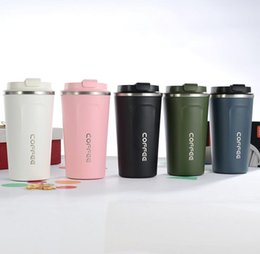 car thermos 2020 - Double Stainless steel Coffee Mug Thickened Big Car Thermos Mug Travel Thermo Cup Thermosmug For Gifts 510ML Thermos Fla