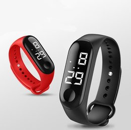 $enCountryForm.capitalKeyWord NZ - Men LED Digital Watch Luxury White Light Touch Screen Silicone Strap Wristwatch Women Sports Yoga Bracelets Watches Kids Clocks