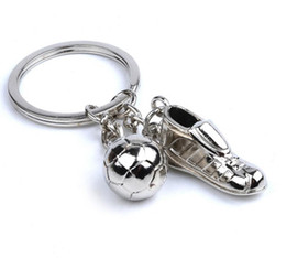 Metal Sneakers Australia - 60pcs Creative Football Sneakers Keychain New Football Team Small Gifts Practical Auto parts Small Alloy Activity Gift HYS319