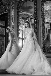 belt size chart Canada - Elie Saab Beach Wedding Dresses Sweetheart Lace Appliqued Beaded A Line Backless Wedding Dress Custom Made Belt Plus Size Bridal Gowns 4298
