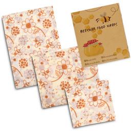 FDA Food Bees Wrap Cling Film Riciclabile Bee Wax Conservazione degli alimenti Panno Cera d'api Riutilizzabili Impacchi alimentari Risparmiatori di frutta GGA2608 in Offerta