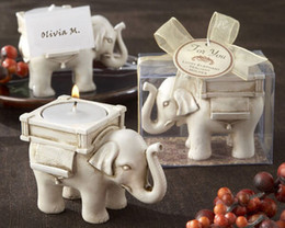 Owl Candles Australia - Retro Elephant Light Candle Holder Candlestick Wedding Home Decor Crafts light holders owl tealight holder