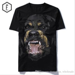 rottweiler tee NZ - New High 2018 Punk Men Fashion T Shirts Rottweiler Print T-Shirt Hip Hop Skateboard Street Cotton T-Shirts Tee Dog #603