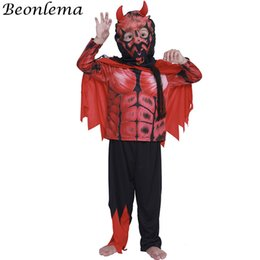 cosplay costumes for plus size Australia - Beonlema Halloween Demon Cosplay Disfraze For Kids Party Games Boys Fancy Clothes Devil Role Play Plus Size Scary Red Costumes