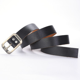 $enCountryForm.capitalKeyWord Australia - 6 Packs Needle Buckle Belt Men's Belt Business Leather Belts First Layer Leather Black
