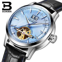 Binger Men Mechanical Watches Australia - Switzerland BINGER Men's Watches  Automatic Mechanical Men Watch Sapphire Male Japan Movement reloj hombre B-7-2