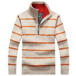 $enCountryForm.capitalKeyWord Australia - Winter Sweater Men Pullover Thick Warm Fleece Zipper Sweater Men's Turtleneck Cashmere Wool Pullover Male Pull Homme Size M-3XL