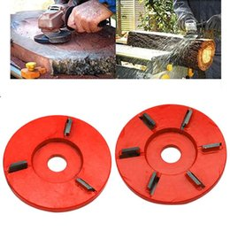 90mm Diameter 16mm Bore Angle Grinder Plane Blade Red Woodcarving Disc Carving 95AA from tdp 1.5 suppliers