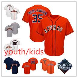 Kids jersey baseball online shopping - New Stitched Boy Youth George Springer Jersey Kids Carlos Correa Alex Bregman Justin Verlander Jose Altuve champions Jersey