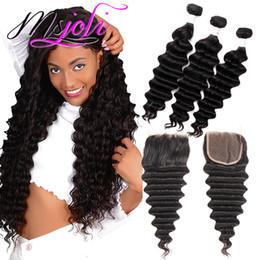 $enCountryForm.capitalKeyWord Australia - Msjoli Brazilian Virgin Human Hair Weave Bundles Straight Body Loose Deep Wave Curly Cheap 8A Peruvian Raw Indian Hair Extensions Wholesale